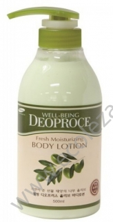 Лосьон для тела Well-Being Deoproce Fresh Moisturizing Olive Body Lotion Deoproce, 500мл